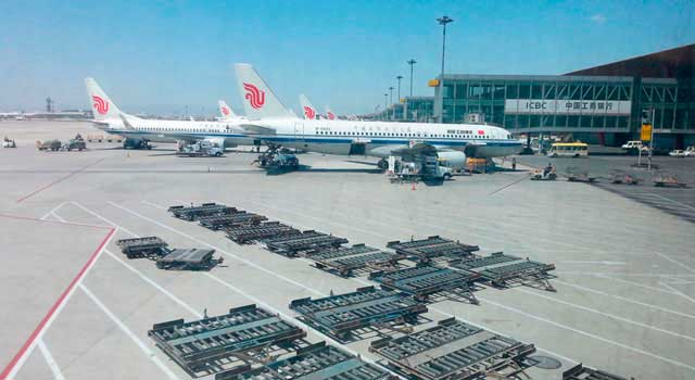 Beijing Airport served 86 Million passengers in 2014.